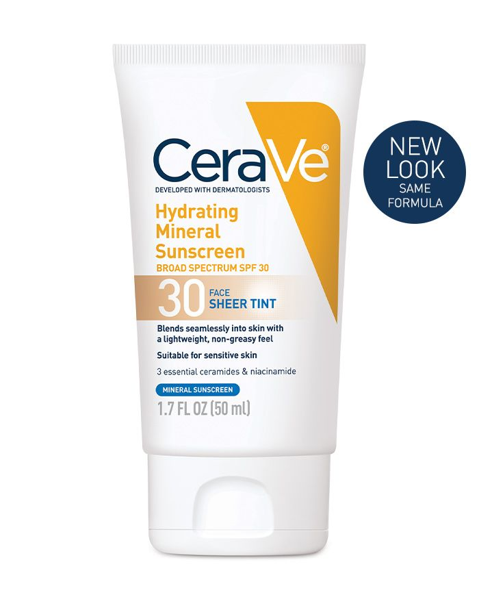 CeraVe Hydrating Sunscreen Face Sheer Tint SPF 30